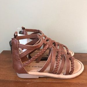 NWT Carter's Brown sandals